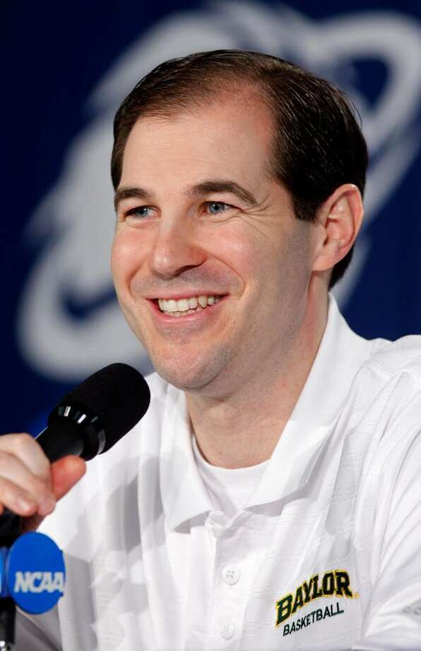 Baylor head coach Scott Drew speaks during an NCAA college basketball news conference in New Orleans on Friday, March 19, 2010. Baylor plays Old Dominion in a second-round game on Saturday. (AP Photo/Patrick Semansky) Photo: Patrick Semansky, ASSOCIATED PRESS / AP2010