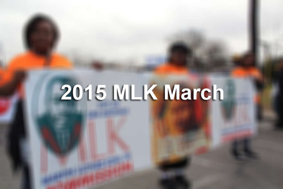 San Antonians participate in the city's Martin Luther King Jr. March on Monday, Jan. 19, 2015. Photo: Yvonne Zamora/For MySA.com