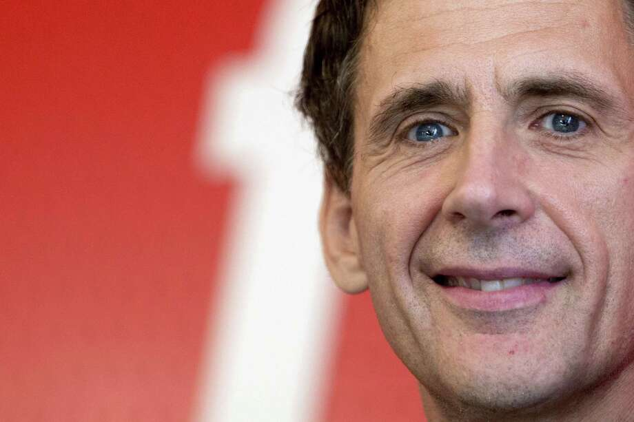 """David Lagercrantz is the author of the fourth novel in the Millenium series of crime novels, originally by Stieg Larsson, """"The Girl in the Spider's Web."""" Photo: KENZO TRIBOUILLARD, Stringer / AFP"""