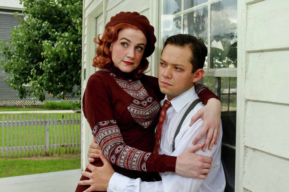 "Kathryn Porterfield and Robert Hager star as the title characters in TUTS Underground's production of ""Bonnie and Clyde."" The play opens Thursday. Photo: Gary Fountain, Freelance / Copyright 2015 by Gary Fountain"
