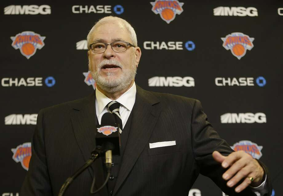 FILE - In this Jan. 10, 2015, file photo, New York Knicks president Phil Jackson speaks during a news conference before an NBA basketball game against the Charlotte Hornets in New York. Jackson thought the playoffs were possible last season, and instead the New York Knicks lost 65 games in their worst season ever. He will expect better after a busy offseason. (AP Photo/Frank Franklin II, File) Photo: Frank Franklin II, Associated Press