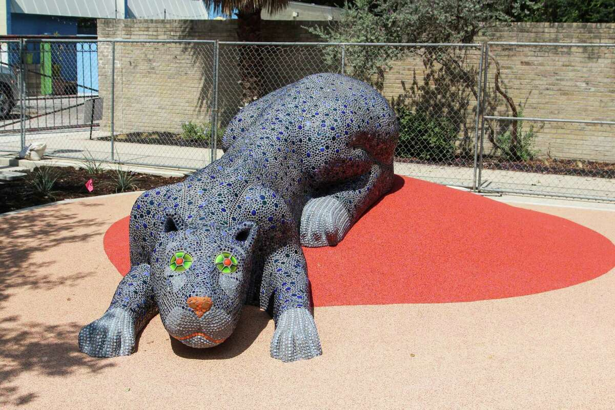 Yanaguana Garden has several public art pieces, such as this one, installed on the premises.