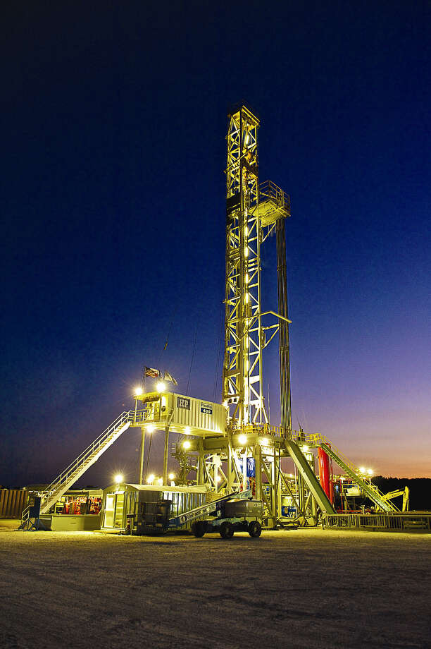 A ConocoPhillips rig works in South Texas' Eagle Ford shale. The U.S. rig count dropped by four last week,  Baker Hughes reported. (ConocoPhillips photo) Photo: ConocoPhillips