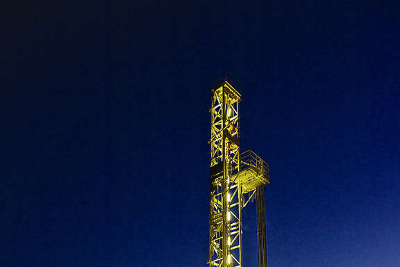A ConocoPhillips rig works in South Texas' Eagle Ford shale. The U.S. rig count dropped by four last week,  Baker Hughes reported. (ConocoPhillips photo)