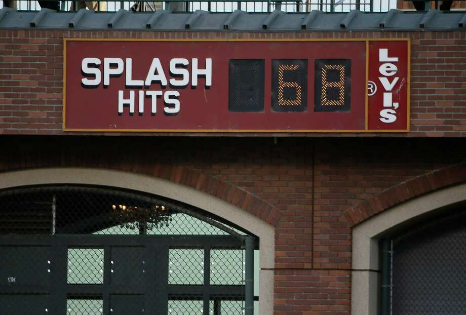 The Giants' Splash Hits counter was sitting at 68 on Oct. 23, 2014. Photo: Eric Risberg / Eric Risberg / Associated Press 2014 / AP