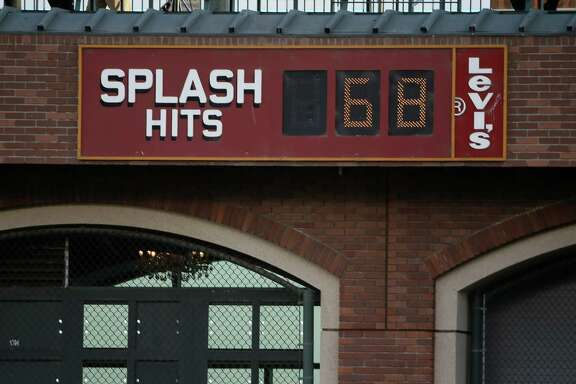 The Giants' Splash Hits counter was sitting at 68 on Oct. 23, 2014.