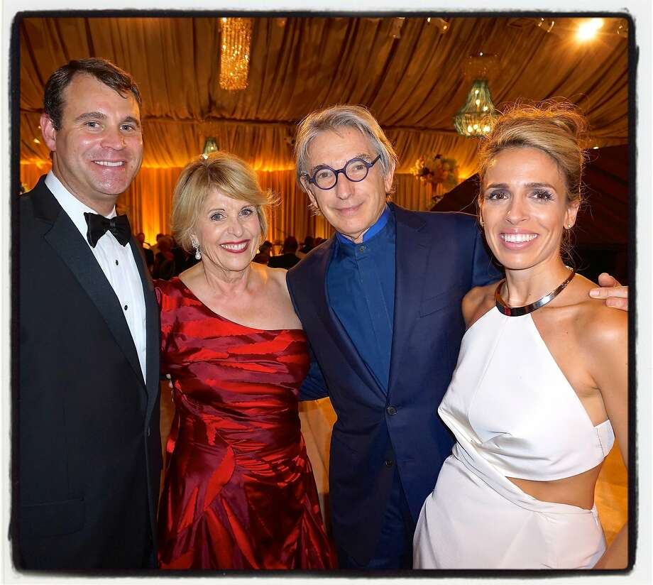 David Dolby (left) with his mom, gala co-chair Dagmar Dolby, SFS maestro Michael Tilson Thomas, and his wife, gala co-chair Natasha Dolby at the SFS 104th opening-night. Sept 2015. Photo: Catherine Bigelow, Special To The Chronicle
