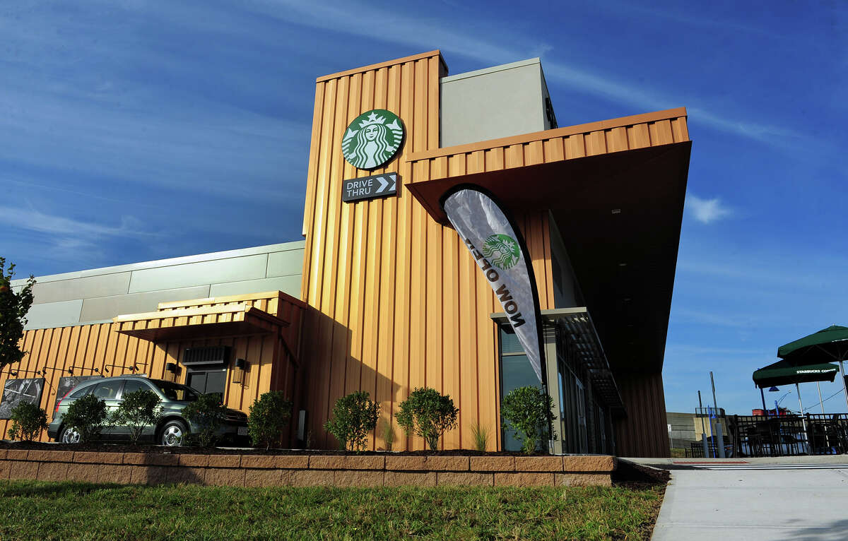 Starbuck's opened its newest store at Steelpointe Harbor in Bridgeport, Conn., on Friday September 25, 2015.