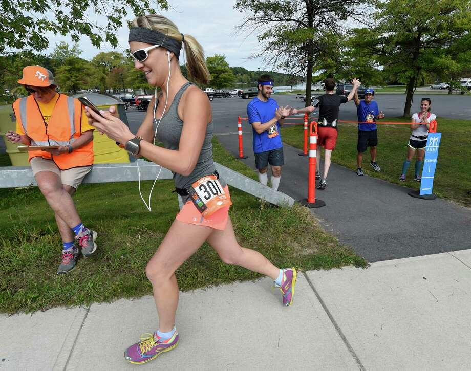 Courtney Knowles starts her segment of the Ragnar Relay Friday afternoon Sept. 25, 2015 in Saratoga Springs, N.Y.   (Skip Dickstein/Times Union) Photo: SKIP DICKSTEIN / 00033512A