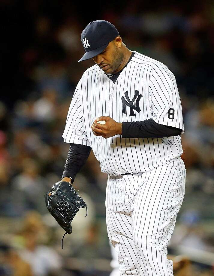 NEW YORK, NY - SEPTEMBER 25:  CC Sabathia #52 of the New York Yankees stands on the mound after surrendering a run in the third inning against the Chicago White Sox at Yankee Stadium on September 25, 2015 in the Bronx borough of New York City.  (Photo by Jim McIsaac/Getty Images) ORG XMIT: 538595587 Photo: Jim McIsaac / 2015 Getty Images