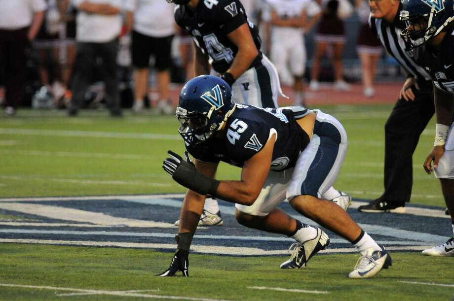 Danbury High graduate Austin Calitro has earned a starting linebacker position at Villanova to start the 2015 season. Photo: Villanova Athletics / Villanova Athletics / News-Times Contributed