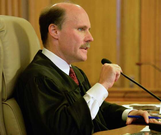 Albany County State Supreme Court Acting Justice Richard Platkin hears arguments during a Women's Equality Party hearing Friday Sept. 25, 2015 in Albany, NY. (John Carl D'Annibale / Times Union) Photo: John Carl D'Annibale / 00033506A