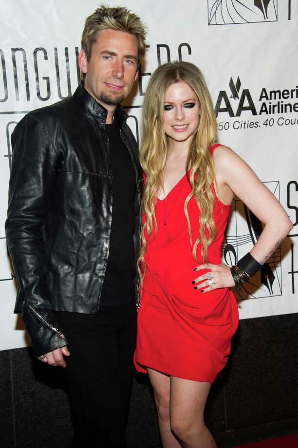 Chad Kroeger, left, and Avril Lavigne attend the Songwriters Hall of Fame 44th annual induction and awards gala on Thursday, June 13, 2013 in New York. (Photo by Charles Sykes/Invision/AP) Photo: Charles Sykes / Invision