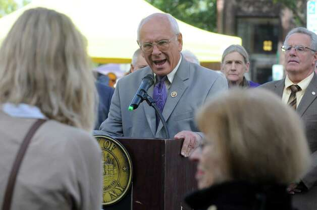 Congressman Paul Tonko speaks during a press conference as he and Mayor Lou Rosamilia joined officials from the U.S. Department of Housing and Urban Development (HUD), the U.S. Department of Veterans Affairs (VA), and key community partners to announce that the City of Troy has achieved the goal of ending homelessness among Veterans on Saturday Sept. 26, 2015 in Troy, N.Y.  (Michael P. Farrell/Times Union) Photo: Michael P. Farrell