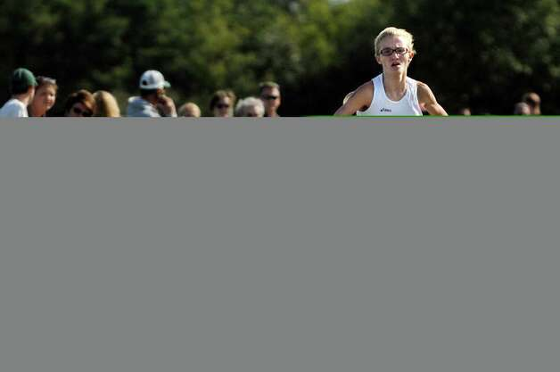 Saratoga Springs' Kelsey Chmiel comes in first in the Division 1 girls' race during the Queensbury Invitational cross country meet on Saturday, Sept. 26, 2015, at Queensbury High in Queensbury, N.Y. (Cindy Schultz / Times Union) Photo: Cindy Schultz / 10033478A