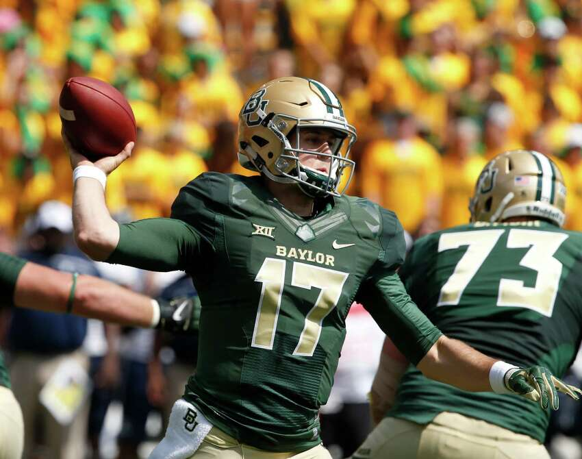 2 Baylor (3-0, next game Saturday vs. Texas Tech at Arlington) - The Bears appear to have gotten their edge back, particularly defensively. It might be coming at the right time as they get ready for Patrick Mahomes and a Tech offense that ran roughshod on them last season.(AP Photo/Rod Aydelotte)