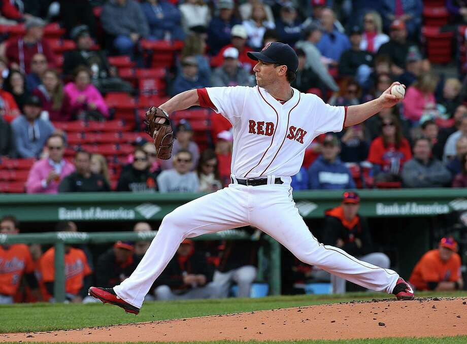 BOSTON, MA - SEPTEMBER 26: Craig Breslow #32 of the Boston Red Sox throws against the Baltimore Orioles throws in the first inning at Fenway Park on September 26, 2015 in Boston, Massachusetts.  (Photo by Jim Rogash/Getty Images) ORG XMIT: 538595649 Photo: Jim Rogash / 2015 Getty Images