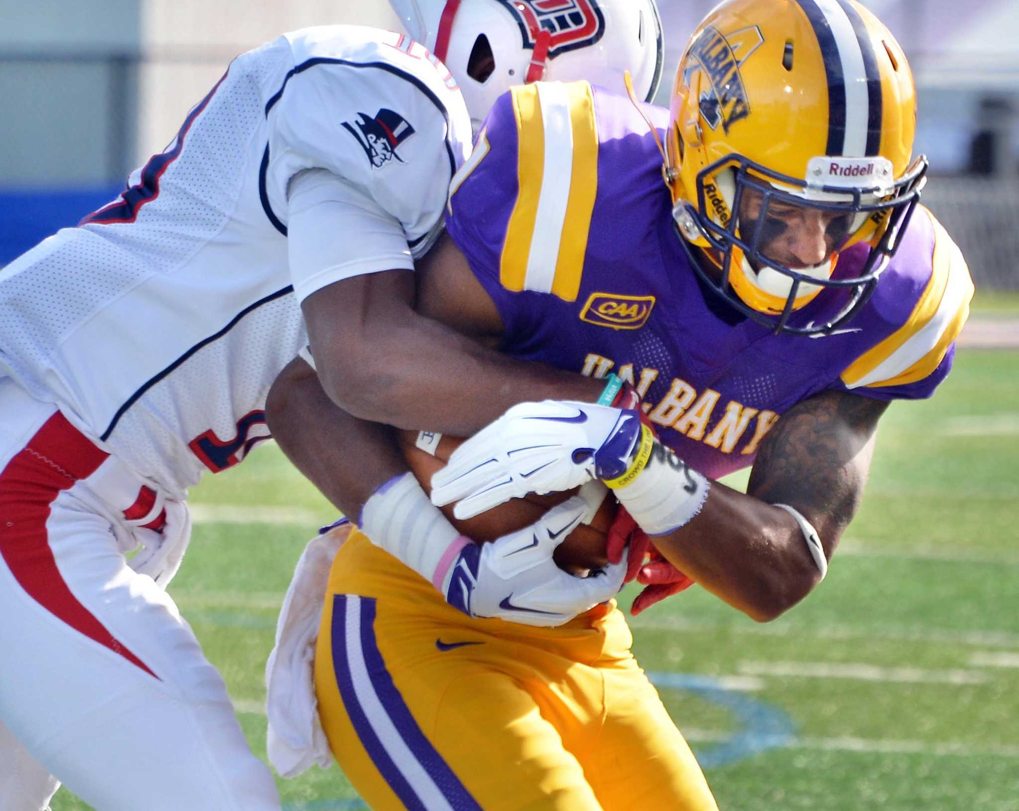 ualbany football wins most difficult game times union