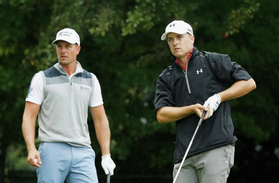 ATLANTA, GA - SEPTEMBER 26:  Jordan Spieth of the United States (R) watches his tee shot on the third hole as Henrik Stenson of Sweden looks on during the third round of the TOUR Championship By Coca-Cola at East Lake Golf Club on September 26, 2015 in Atlanta, Georgia  (Photo by Scott Halleran/Getty Images) ORG XMIT: 527951991 Photo: Scott Halleran / 2015 Getty Images