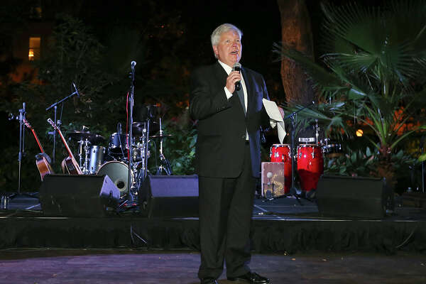 John C. McKeon, President & Publisher San Antonio Express-News, speaks during the SA150th gala at the Alamo on Saturday Sept. 26, 2015. Dignitaries celebrated the 150th anniversary of the founding of the San Antonio Express-News.