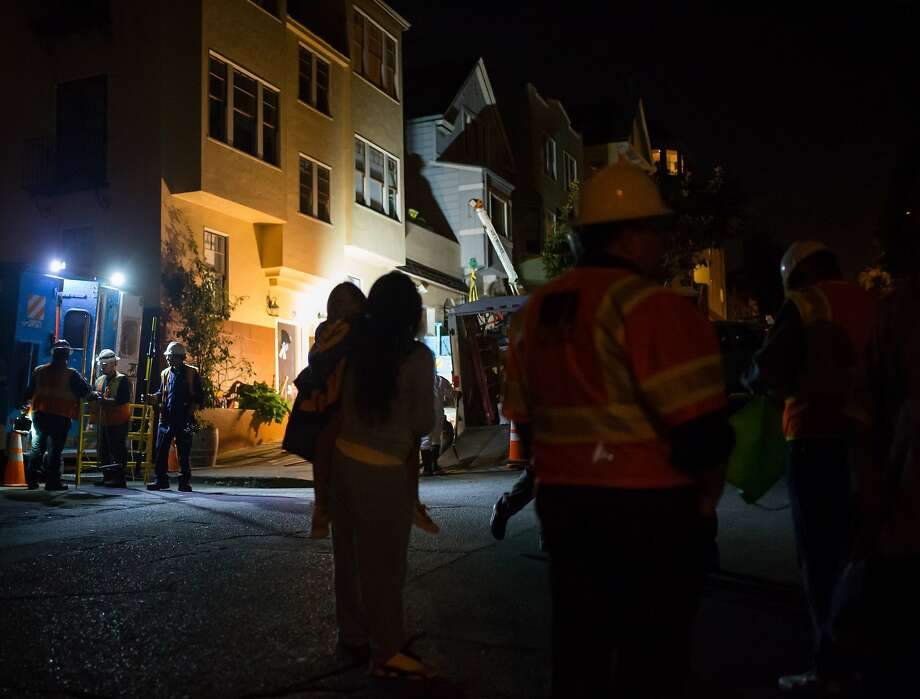 Crews work at 8 Heyman Avenue after injuries from an explosion of a transformer put one man in the hospital on Saturday, Sept. 26, 2015 in San Francisco, Calif. Photo: Nathaniel Y. Downes, The Chronicle
