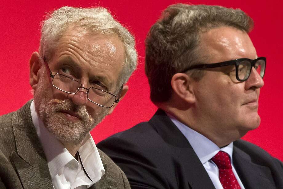 Britain's opposition Labor Party leader Jeremy Corbyn (left) and deputy leader Tom Watson. Photo: Justin Tallis, AFP / Getty Images