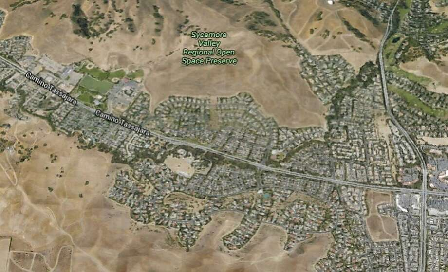 A 16-year-old Antioch resident was arrested after leading Danville police on a chase in a stolen truck along Camino Tassajara on Saturday. Photo: Google Maps