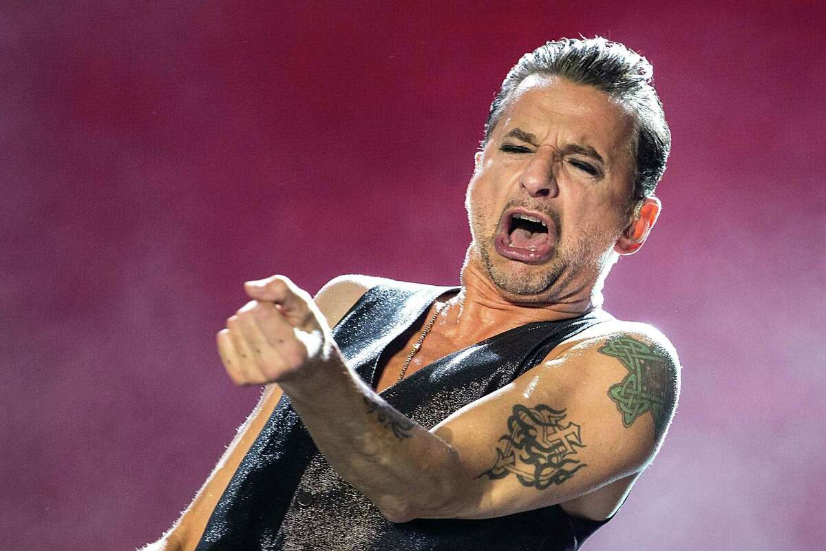 Musician/vocalist Dave Gahan of Depeche Mode performs on stage during weekend one, day one of the Austin City Limits Music Festival at Zilker Park on October 4, 2013 in Austin, Texas. (Photo by Rick Kern/WireImage)