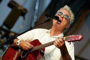 Musician David Byrne, formerly of the Talking Heads performs in concert at the Austin City Limits music festival on September 26, 2008 in Austin, Texas.  (Photo by Gary Miller/FilmMagic)