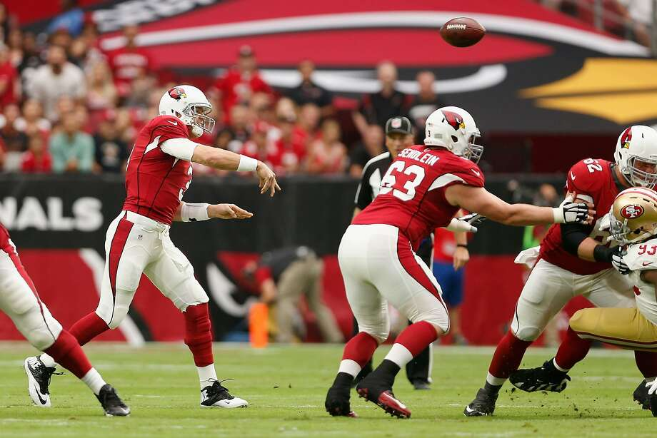 GLENDALE, AZ - SEPTEMBER 27:  Quarterback Carson Palmer #3 of the Arizona Cardinals throws a pass during the first half of the NFL game against the San Francisco 49ers at the University of Phoenix Stadium on September 27, 2015 in Glendale, Arizona.  (Photo by Christian Petersen/Getty Images) Photo: Christian Petersen, Getty Images