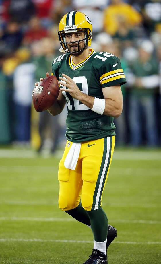 Green Bay Packers quarterback Aaron Rodgers warms up before an NFL football game against the Seattle Seahawks Sunday, Sept. 20, 2015, in Green Bay, Wis. (AP Photo/Jeffrey Phelps) Photo: Jeffrey Phelps, Associated Press
