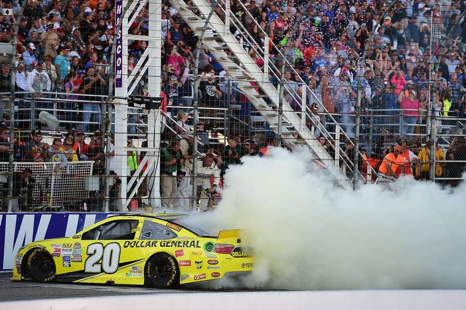 Matt Kenseth, takes a spin after winning at New Hampshire Motor Speedway. Photo: Jared C. Tilton, Getty Images