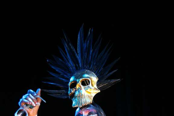 With her memoir due next week, the legendary British singer and performer Grace Jones  performed a concert  at the at the Fox Theater  in downtown Oakland, Calif. on Saturday September 26, 2015.
