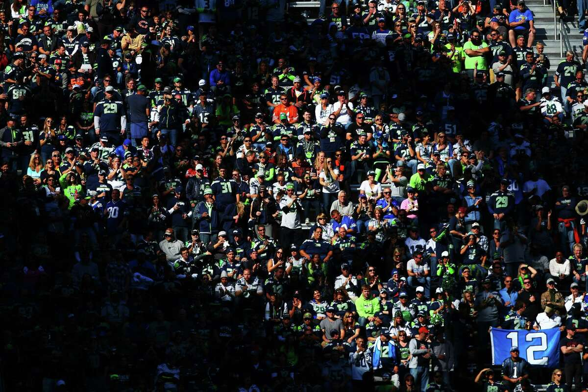 Fans watch from the Hawk's Nest during the second half of the Seahawks home opening game against Chicago at CenturyLink Field, Sunday, September 27, 2015. The Seahawks won 26-0.