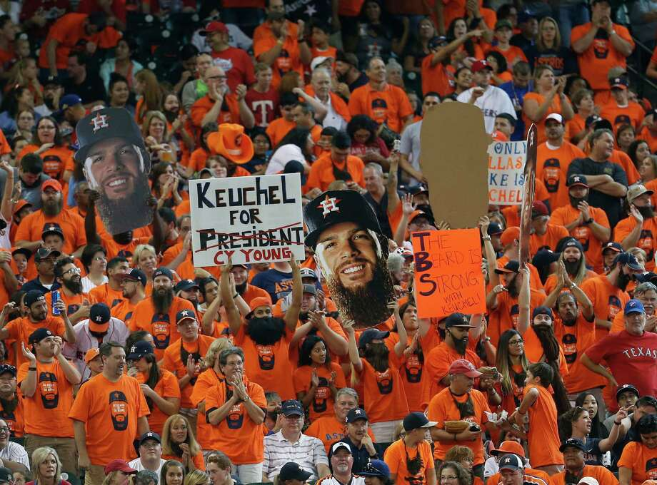 Dallas Keuchel had fans casting Cy Young votes by cornering the market on home wins this season. Photo: Karen Warren, Staff / © 2015 Houston Chronicle
