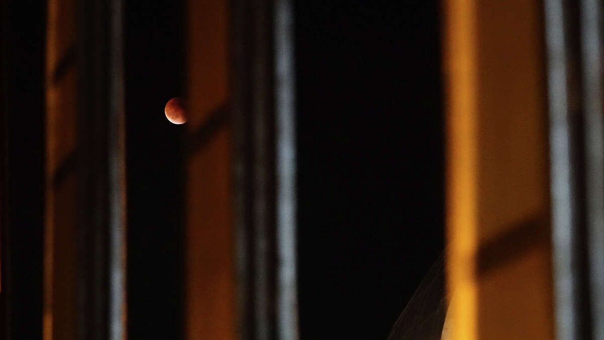 A total lunar eclipse in the phase of a