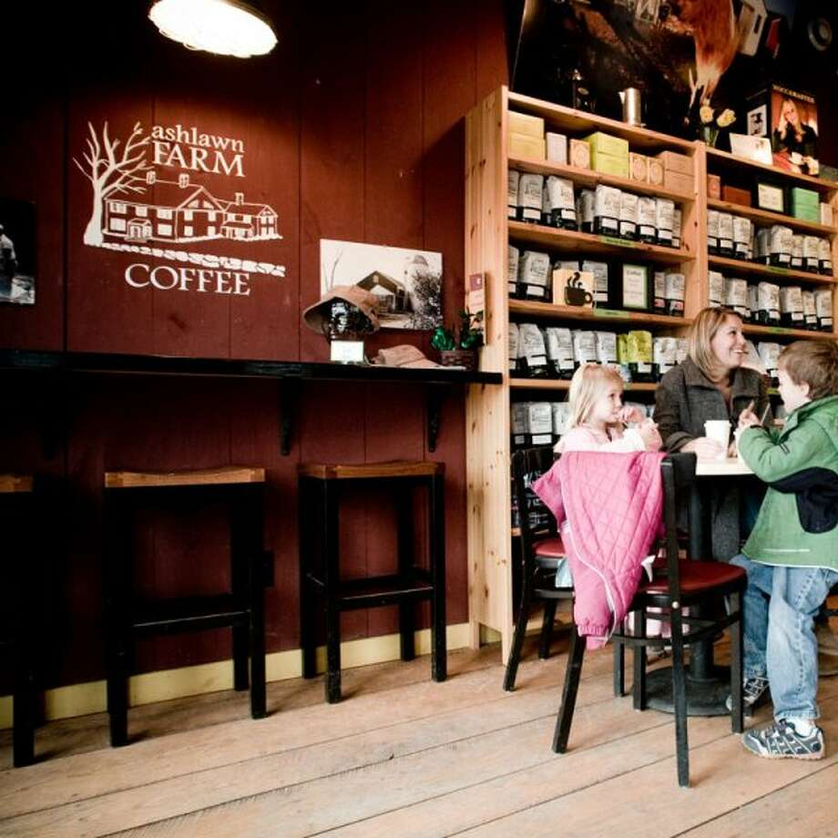Ashlawn Farm Coffee, located in Lyme, blends the idea of a café with the ambiance of a farm.