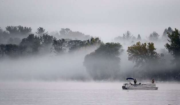 Fog greets fishermen on a beautiful morning on Saratoga Lake on Monday, Sept. 28, 2015, in Saratoga Springs, NY. (Skip Dickstein/Times Union)