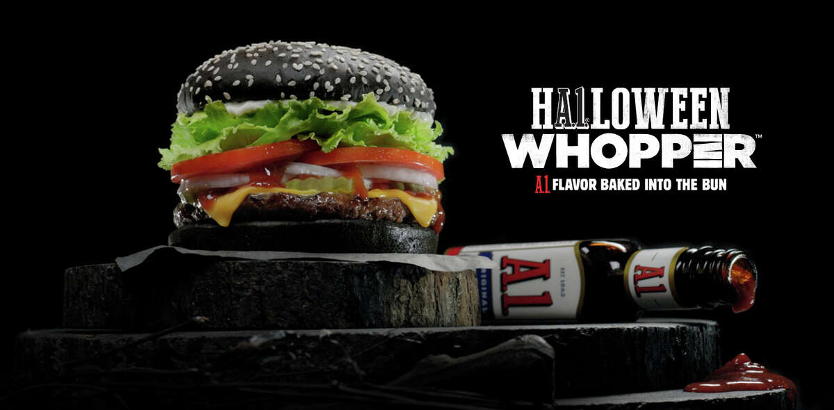 Starting Sept. 28, Burger King began offering a Halloween Whopper made with a black bun in restaurants across the United States. The buns have A.1. steak sauce baked into them to create the pitch black color.