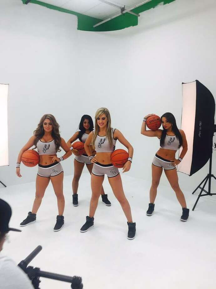 The beautiful ladies of the San Antonio Spurs Silver Dancers gussied up for cameras in the season's first photo shoot over the weekend. Photo: Provided By The San Antonio Spurs