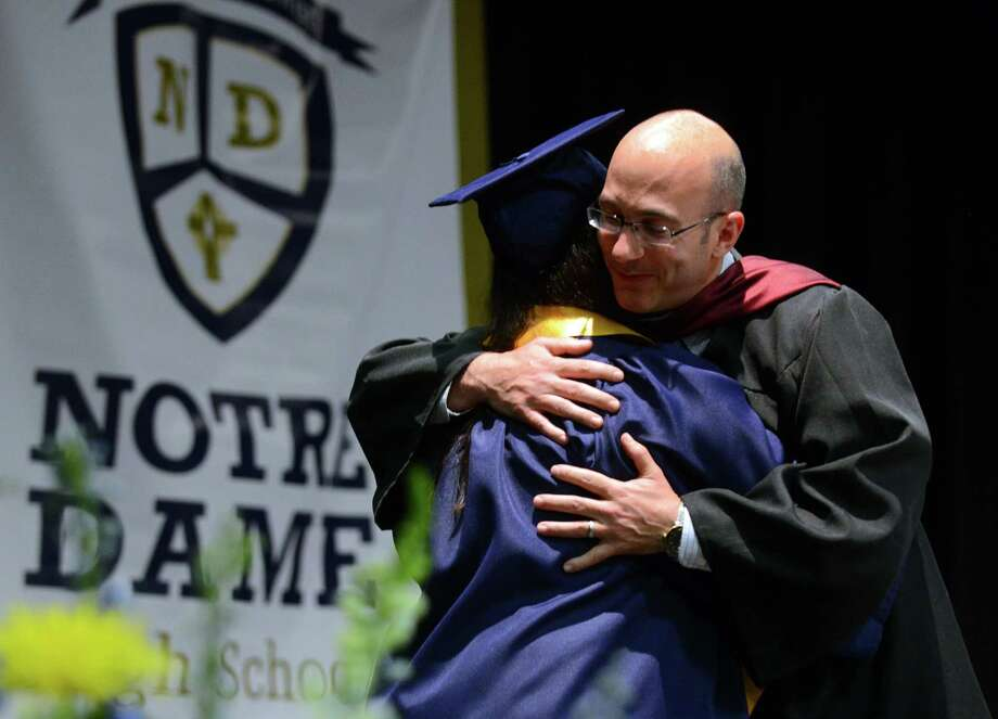 Notre Dame of Fairfield's Class of 2015 Commencement Exercises in Fairfield, Conn., on Friday May 29, 2015. Photo: Christian Abraham / Christian Abraham / Connecticut Post