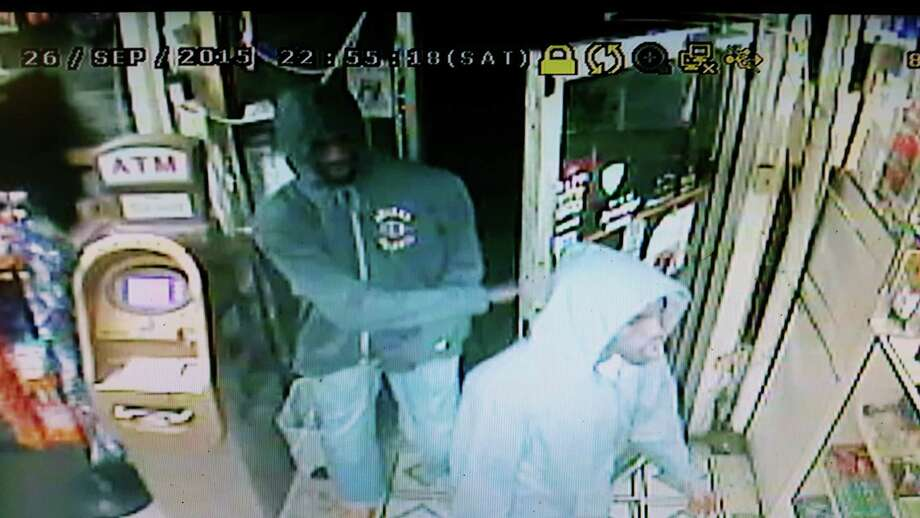 Cohoes police are looking for two men involved in an armed robbery about 9 p.m. Sunday, Sept. 27, 2015. The men entered News Stand Grocery and Deli, 125 Main St., displayed a weapon and stole money from the cash register, police said. (Cohoes Police Department)