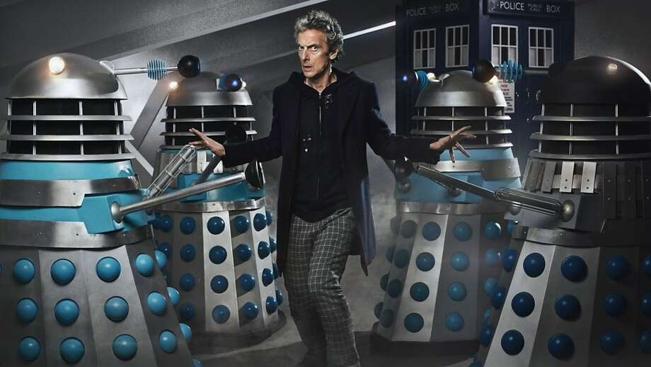 """Daleks and The Doctor (Peter Capaldi): From """"The Witch's Familiar."""" Photo: BBC America"""