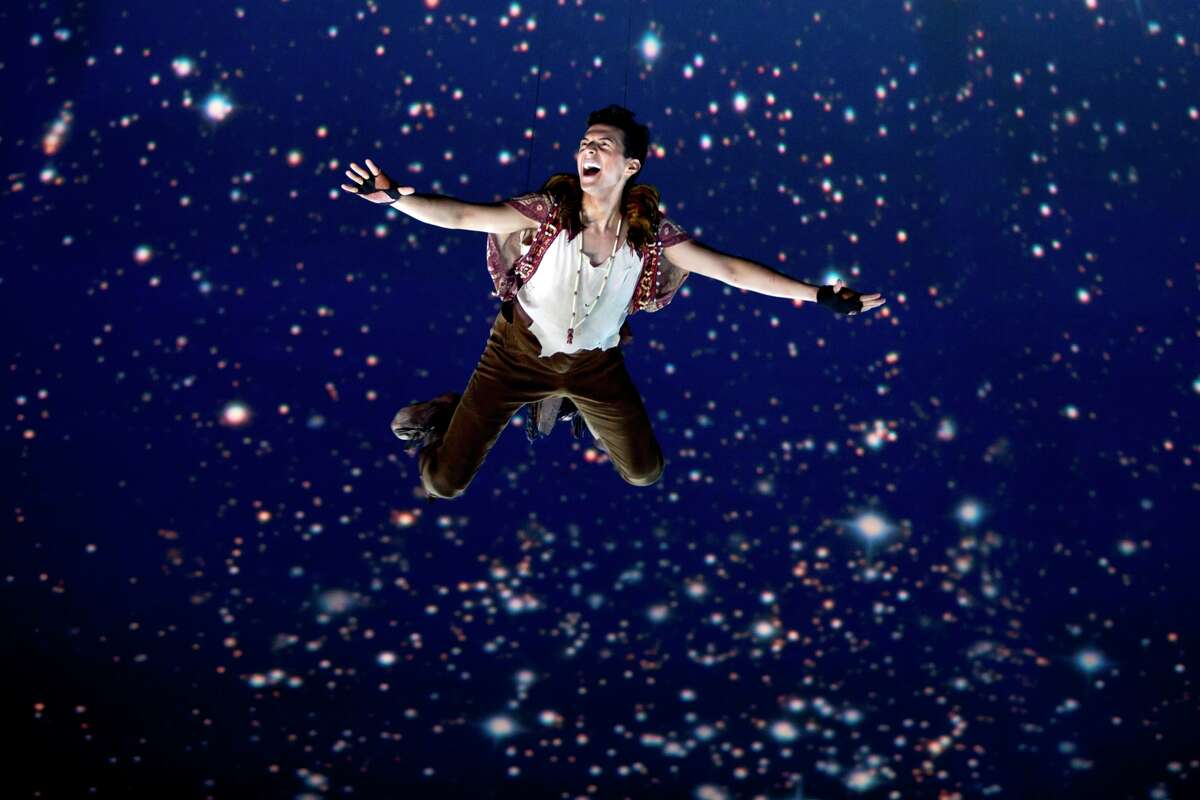 Dan Rosales takes flight as Peter Pan in