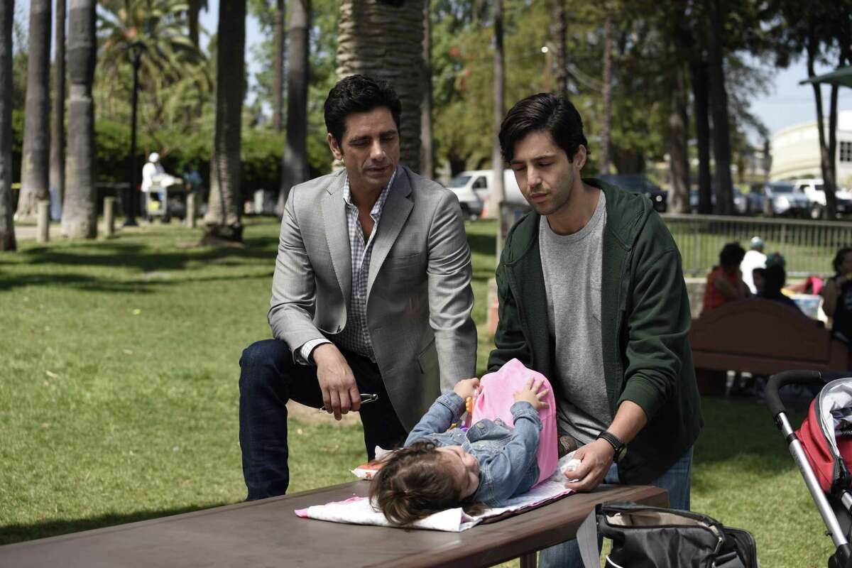 """John Stamos is Jimmy and Josh Peck is his son, Gerald, in """"Grandfathered,"""" premiering Tuesday, Sept. 29, on Fox."""