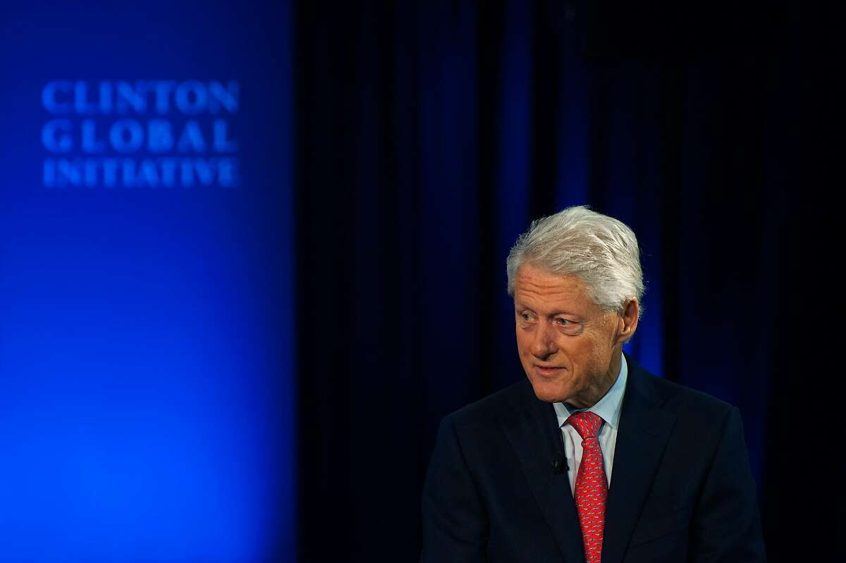 NEW YORK, NY - SEPTEMBER 28: Former U.S. President Bill Clinton speaks with CNBC's Becky Quick during the Clinton Global Initiative Annual Meeting at the Sheraton Hotel and Towers on September 28, 2015 in New York City. The Clinton Global Initiative, happening simultaneously with the United Nation's General Assembly, invites leaders from politics, business, and culture to discuss world issues. (Photo by Bryan Thomas/Getty Images)