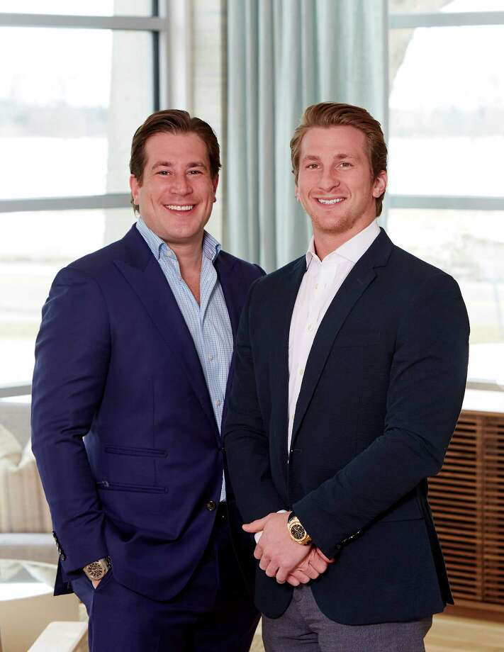 Zachary Vichinsky (right) and his brother Cody Vichinsky, co-founders of Bespoke Real Estate, are entering the Connecticut market with their first listing in Greenwich. Photo: Contributed