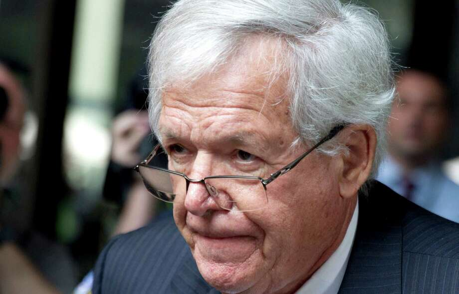 FILE - In this June 9, 2015 file photo, former House Speaker Dennis Hastert departs the federal courthouse in Chicago after his arraignment on charges of violating banking rules and lying to the FBI after he allegedly agreed in 2010 to pay $3.5 million to someone to hide past misconduct. Prosecutors and attorneys for Hastert told a federal judge Monday Sept. 28, 2015 that they're talking about a possible plea deal. (AP Photo/Christian K. Lee, File) Photo: Christian K. Lee, STF / AP