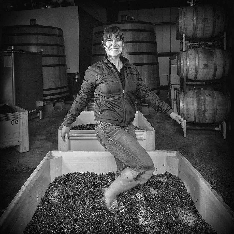 Chrystal Clifton at Palmina winery Photo: Jeremy Ball