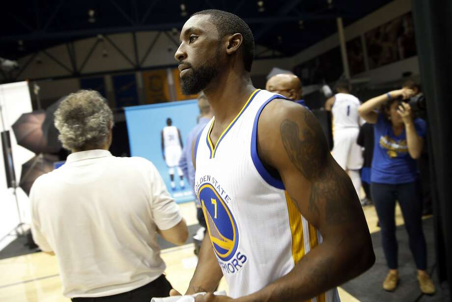Ben Gordon heads to a photo shoot during Golden State Warriors' Media Day in Oakland, Calif., on Monday, September 28, 2015. Photo: Scott Strazzante, The Chronicle